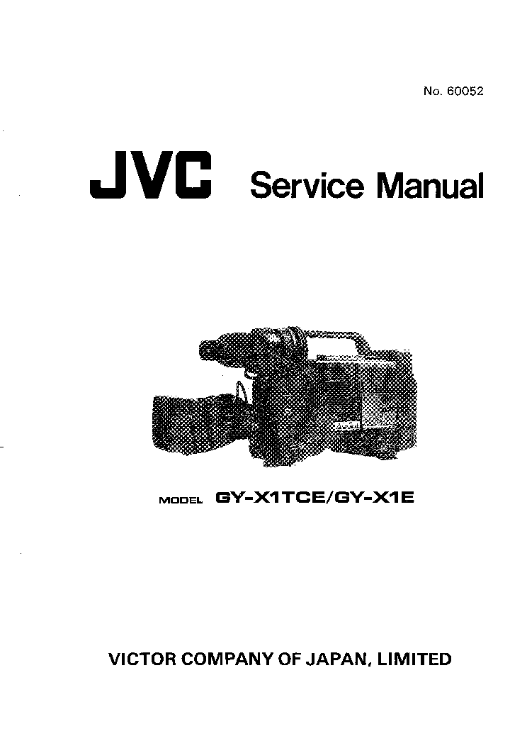 JVC GY-X1TCE GY-X1E SM Service Manual download, schematics
