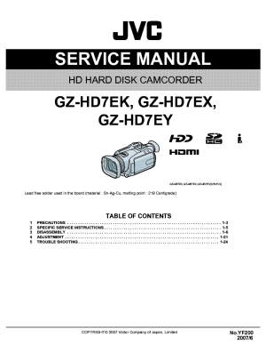 JVC GZHD7 EKEXEY YF200 SM Service Manual download