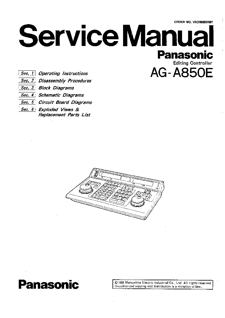 PANASONIC NV-R10 NV-R100 Service Manual free download