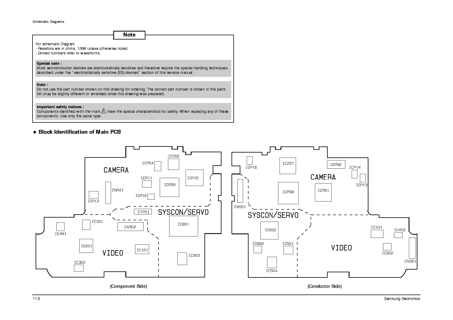 SAMSUNG VP-A12 Service Manual download, schematics, eeprom