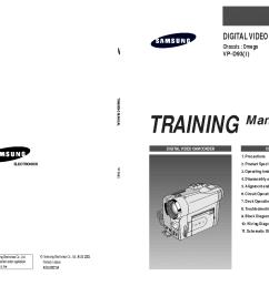 samsung vp d93 camera training manual service manual 1st page  [ 1489 x 1053 Pixel ]