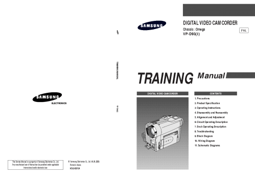 small resolution of samsung vp d93 camera training manual service manual 1st page