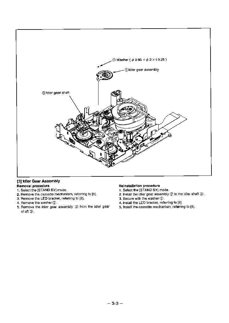 SANYO 8MM RS MECHANISM I SMM Service Manual download