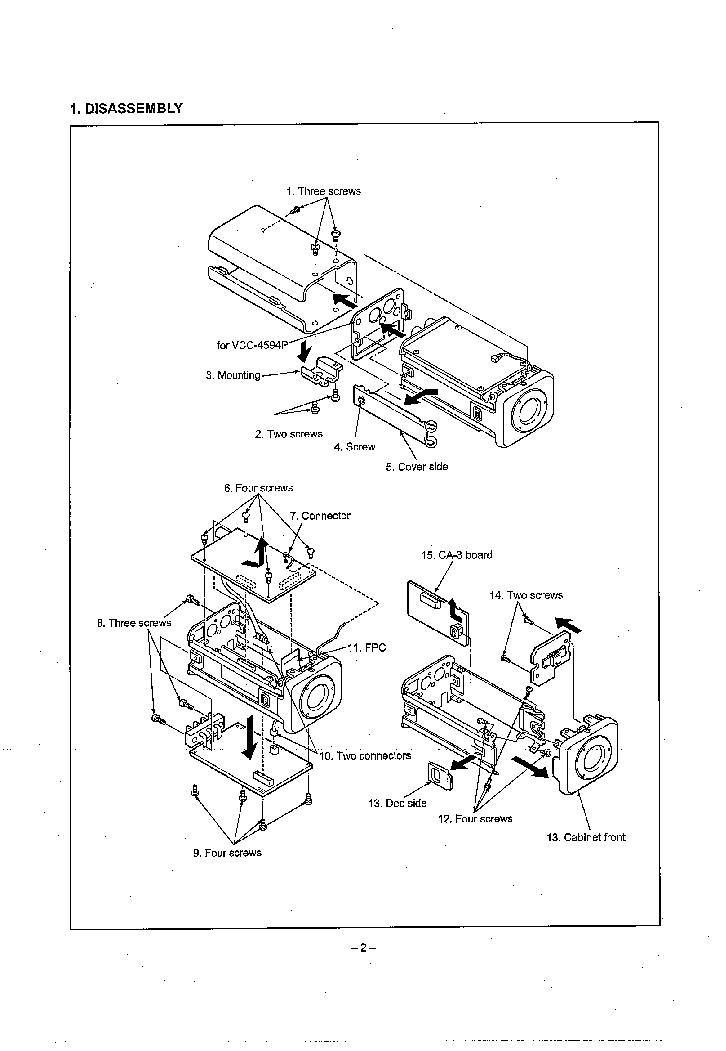 SANYO VCC-4592 VCC-4594 SM Service Manual download
