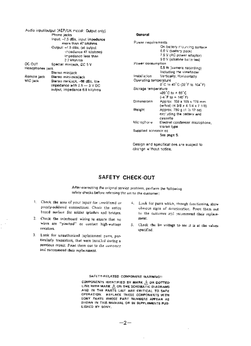small resolution of sony ccd tr705e 1 service manual 2nd page