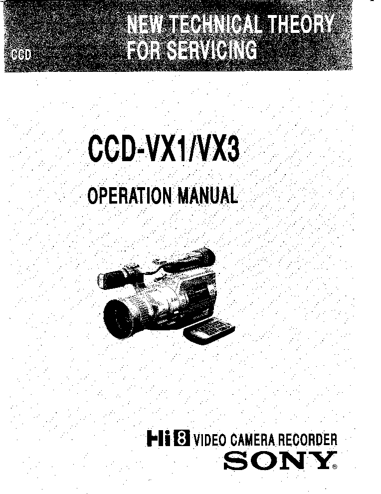 SONY CCD-VX1 VX3 SM Service Manual download, schematics