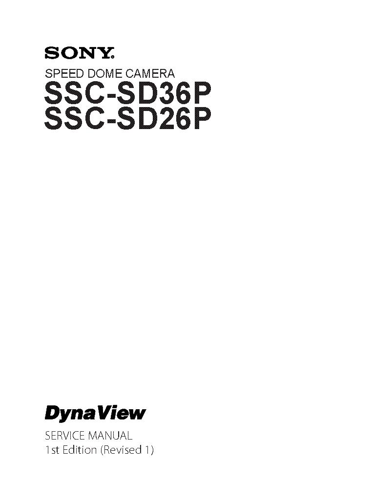SONY SSC-SD36P SSC-SD26P 1ST-EDITION REV.1 SM Service