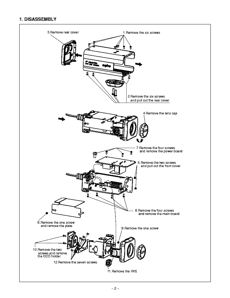 SANYO VCB-3380 SM Service Manual download, schematics