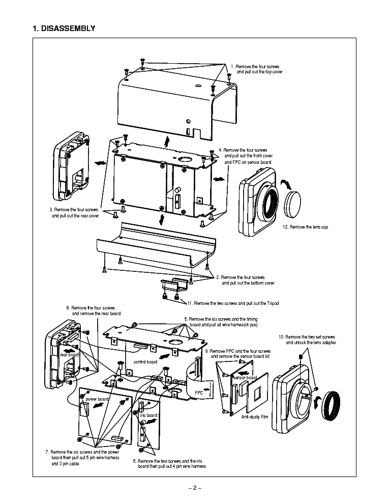 SANYO VCB-3440P B-W CCD Service Manual download