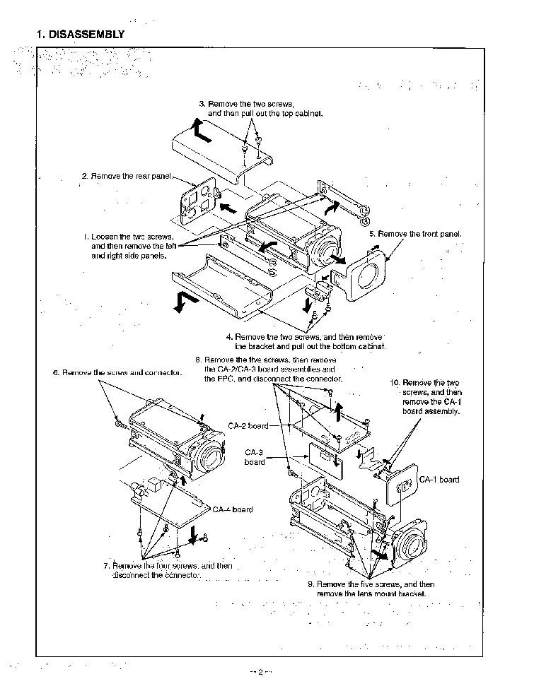 SANYO VCC-6572P CAMERA Service Manual download, schematics