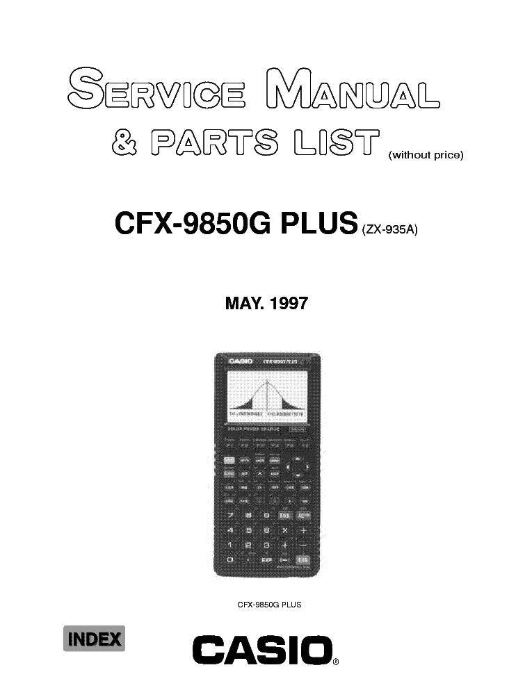 CASIO CE310 ELECTRONIC CASH REGISTER SM Service Manual