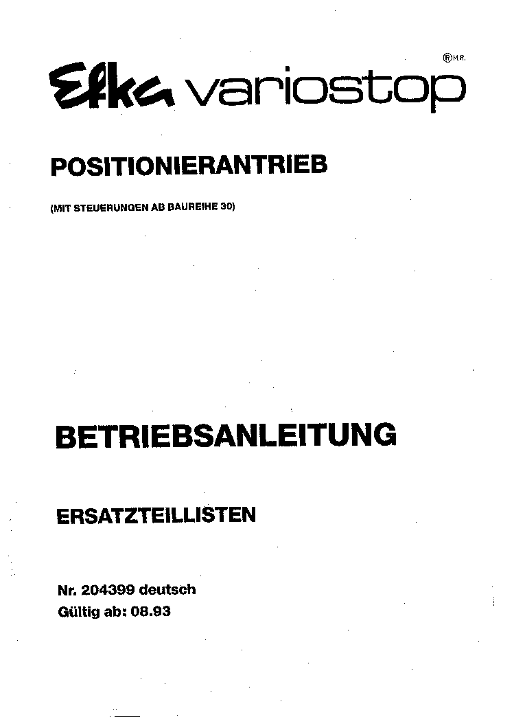 EFKA VARIOSTOP VARROGEP Service Manual download