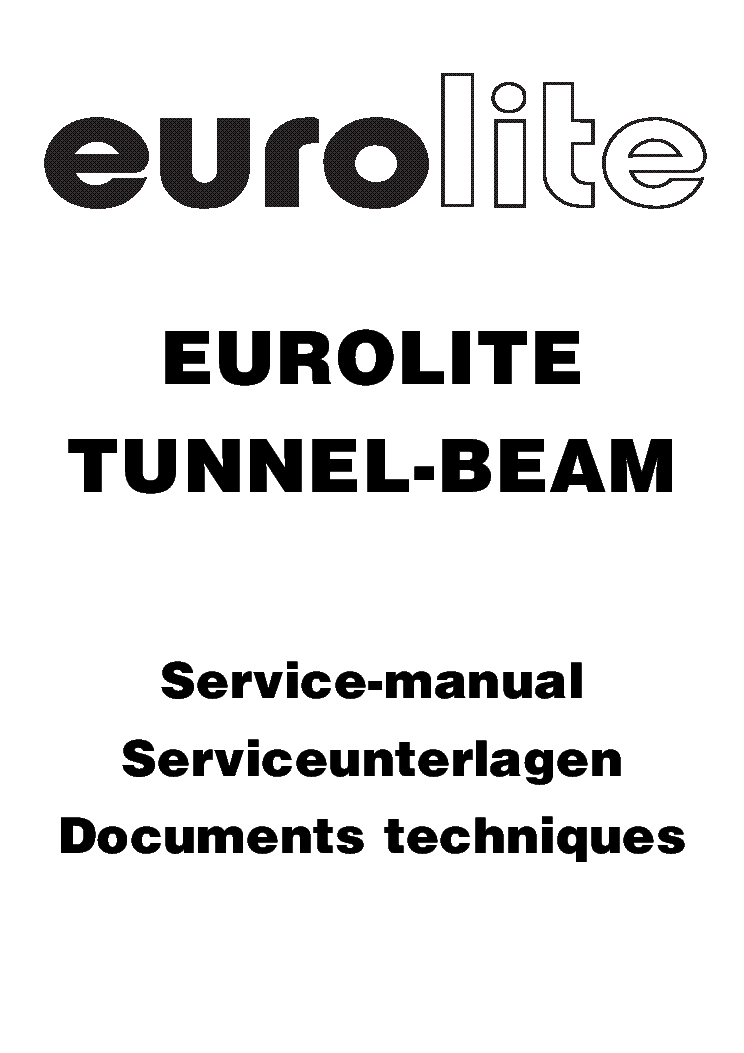 EUROLITE TMH-150 MOVING HEAD SM Service Manual download