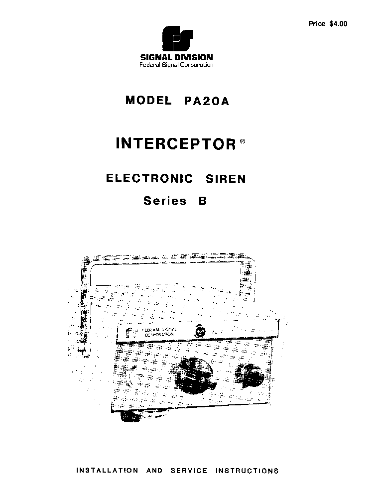 federal_pa20a_series b_siren_sm.pdf_1 federal signal corporation pa300 wiring diagram efcaviation com federal signal interceptor 400 wiring diagram at aneh.co
