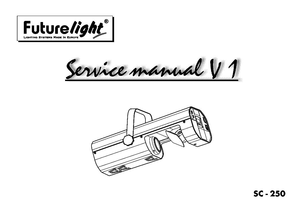 FUTURELIGHT PHS-200 PRO-HEAD-SPOT SM Service Manual