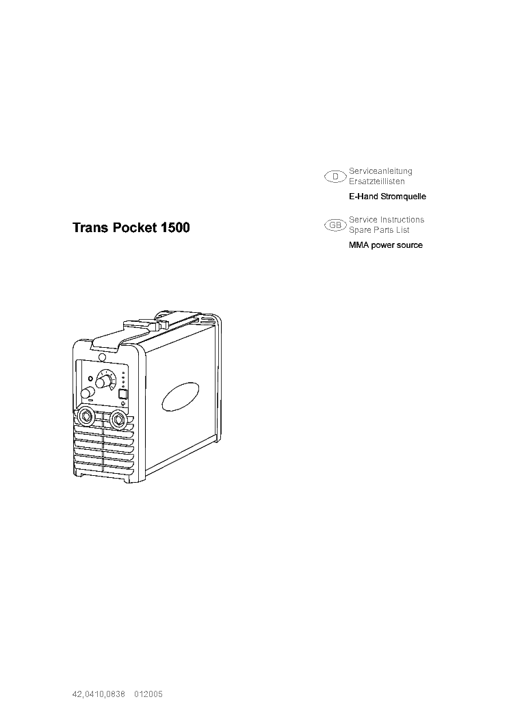 FRONIUS TP1500 INVENTOR SM DE Service Manual download