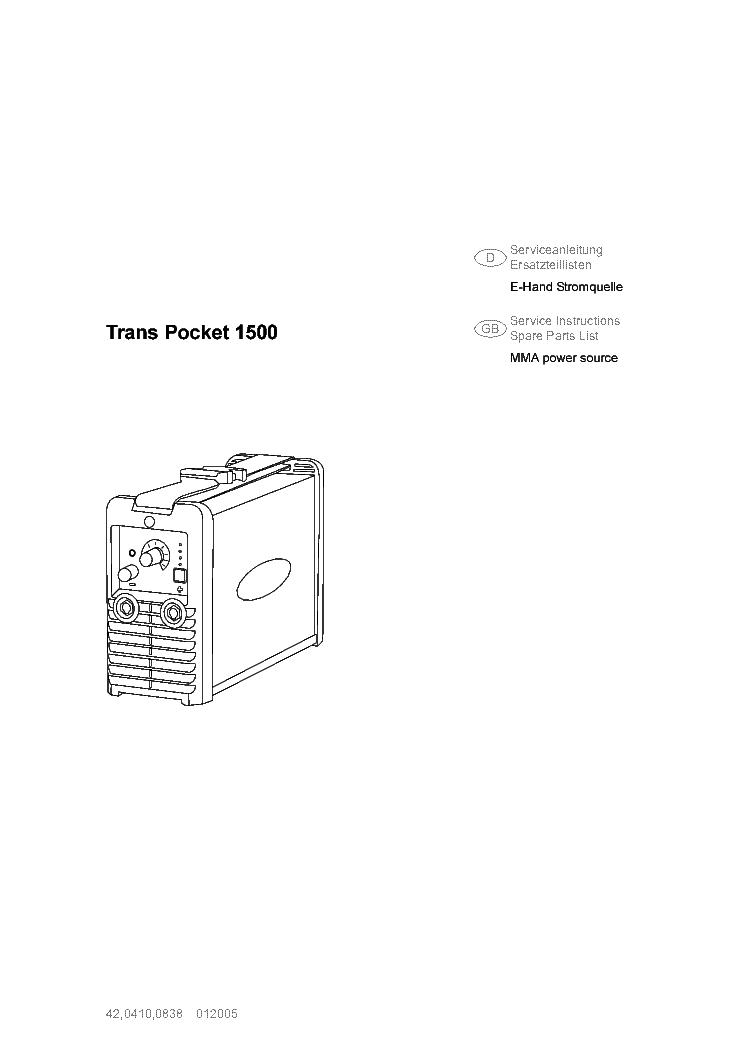 FRONIUS TP1500 INVENTOR SM DE Service Manual download