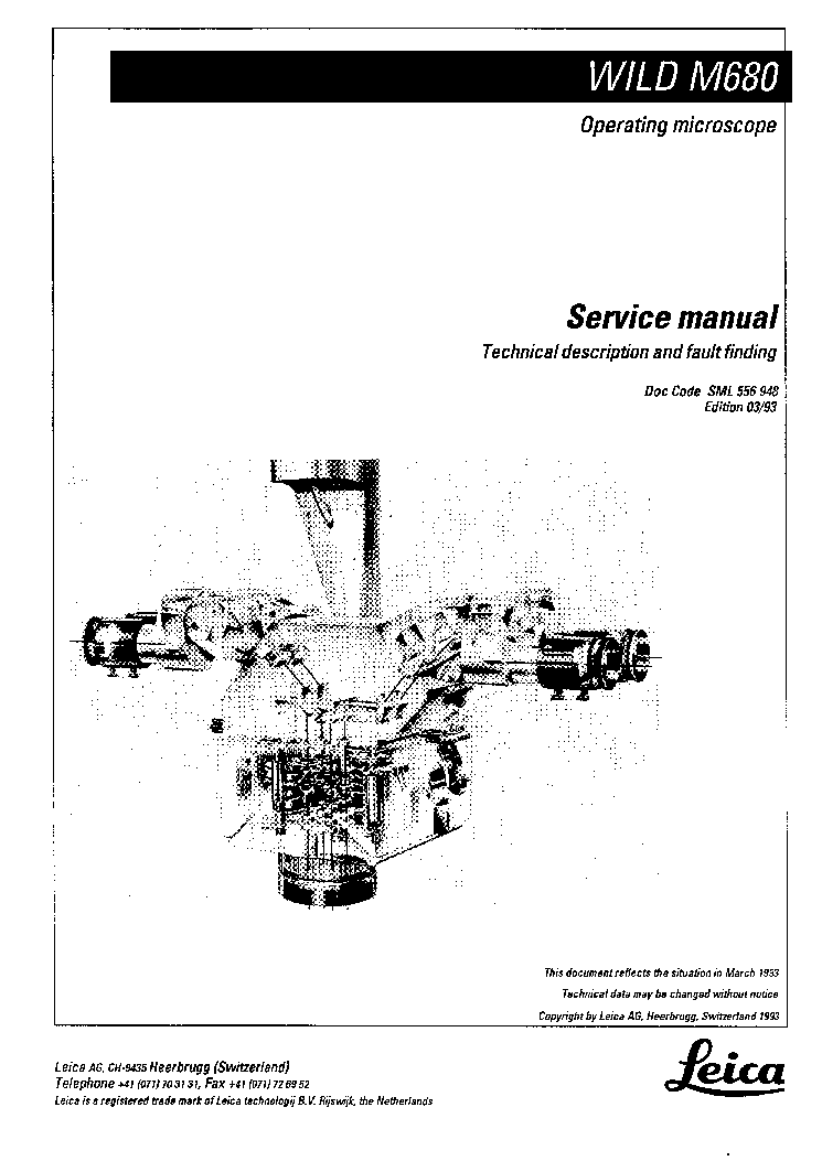 LEICA M320 VER.5 Service Manual download, schematics