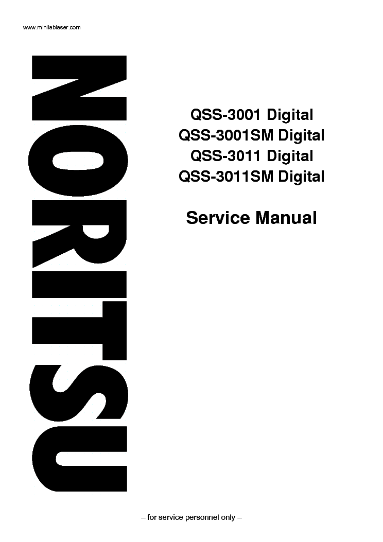 NORITSU QSS-3001 QSS-3011 SM Service Manual download