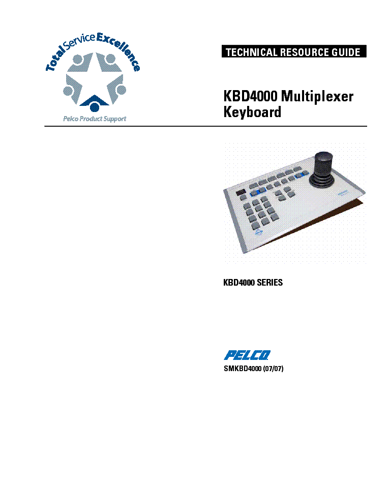 PELCO WS5050 ENDURA WORKSTATION SM Service Manual download