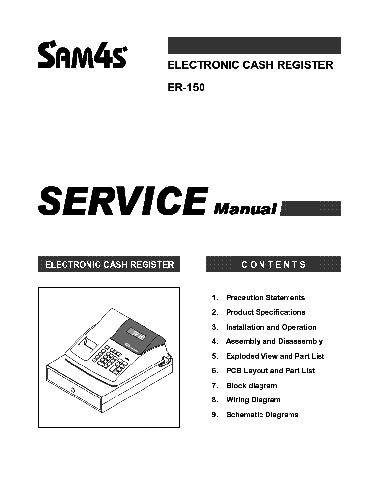 SAMSUNG ER-150 PENZTARGEP Service Manual free download