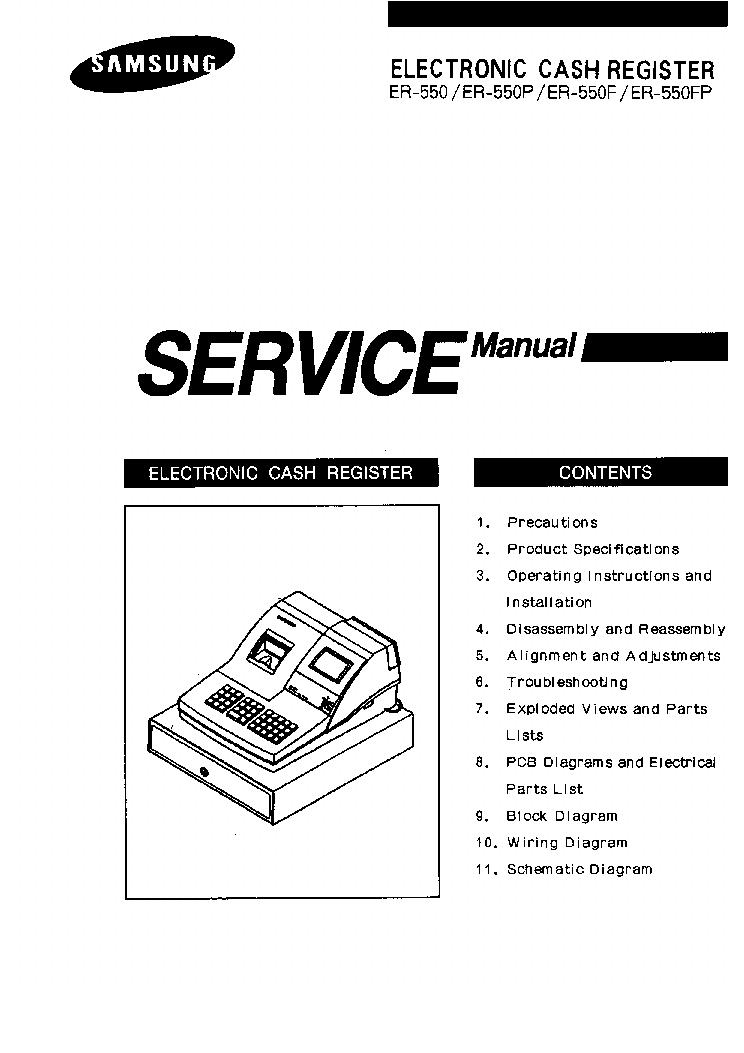 SAMSUNG ER-550-ELECTRONIC-CASH PENZTARGEP Service Manual
