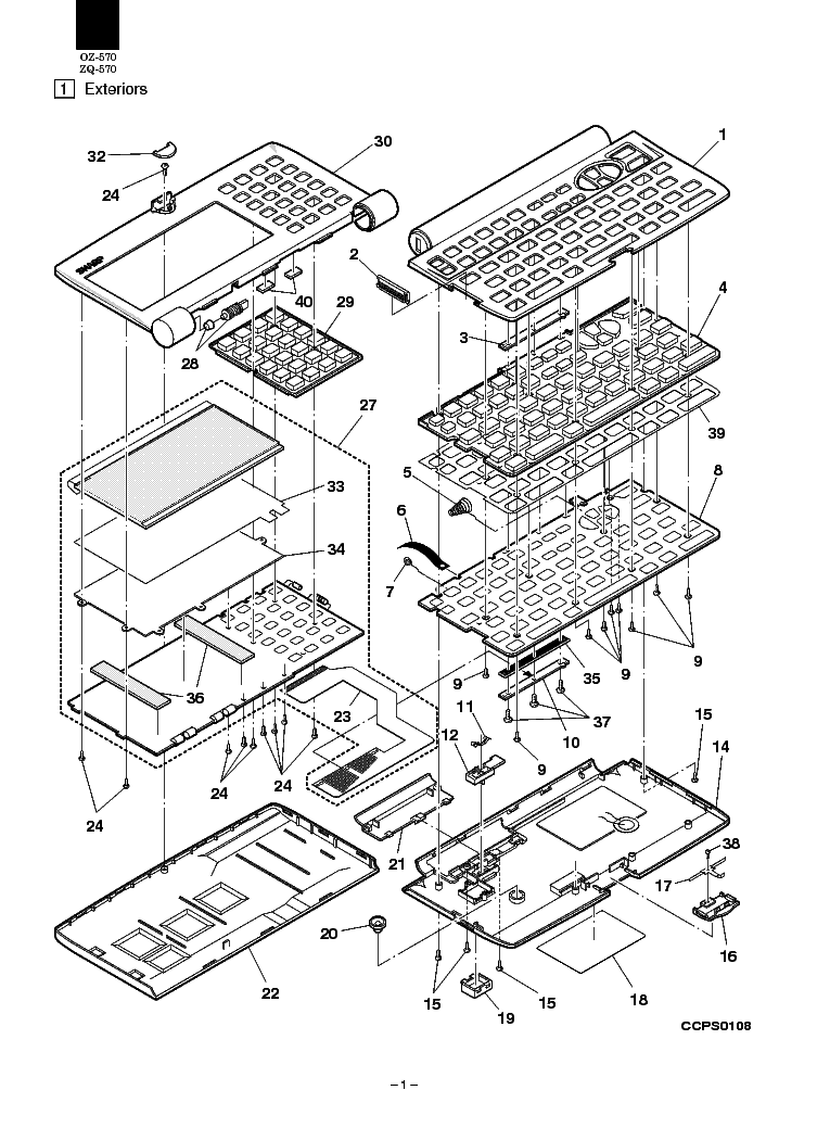 SHARP OZ-570 ZQ-570 Service Manual download, schematics
