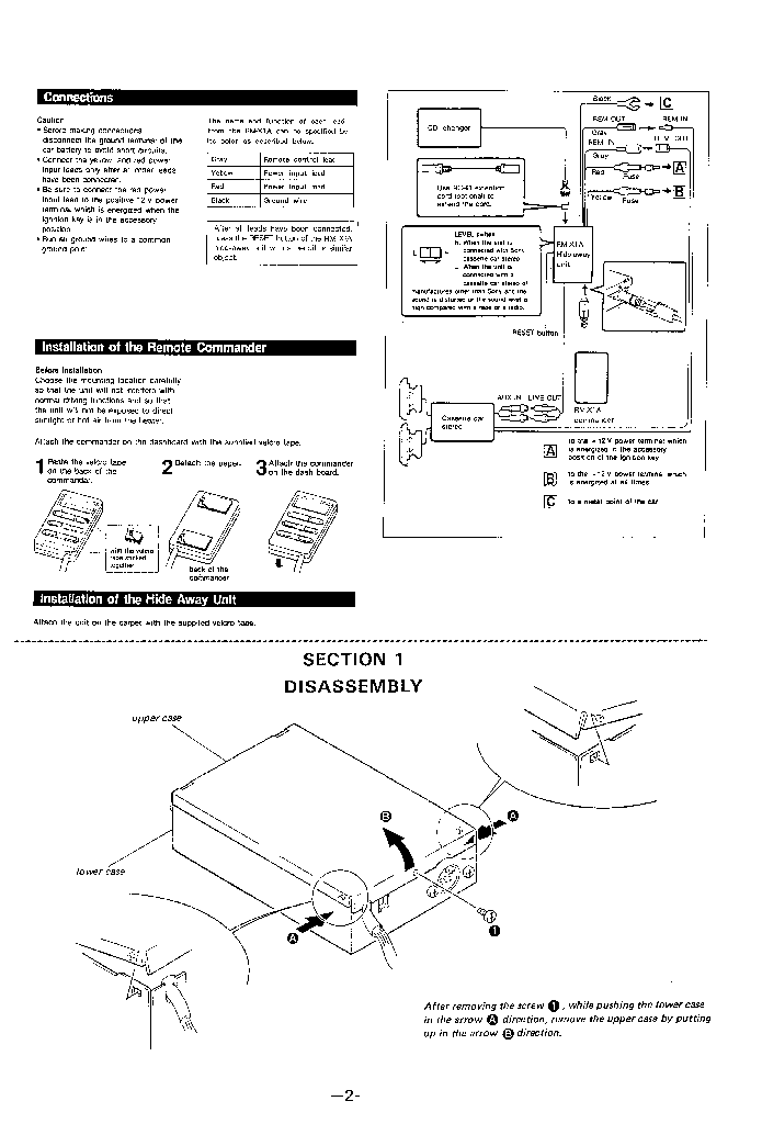 SONY RM-X1A SM Service Manual download, schematics, eeprom