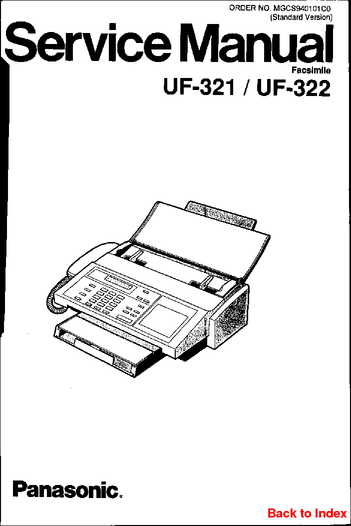 PANASONIC UF-321 322 Service Manual download, schematics