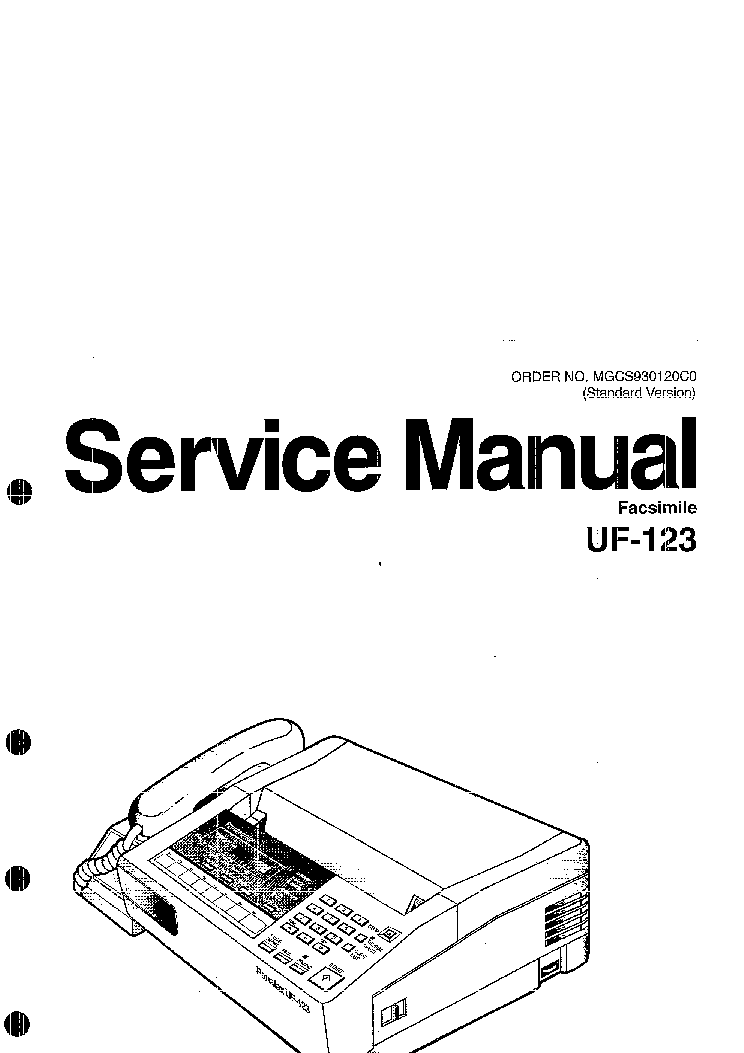 PANASONIC UF123 SM Service Manual download, schematics