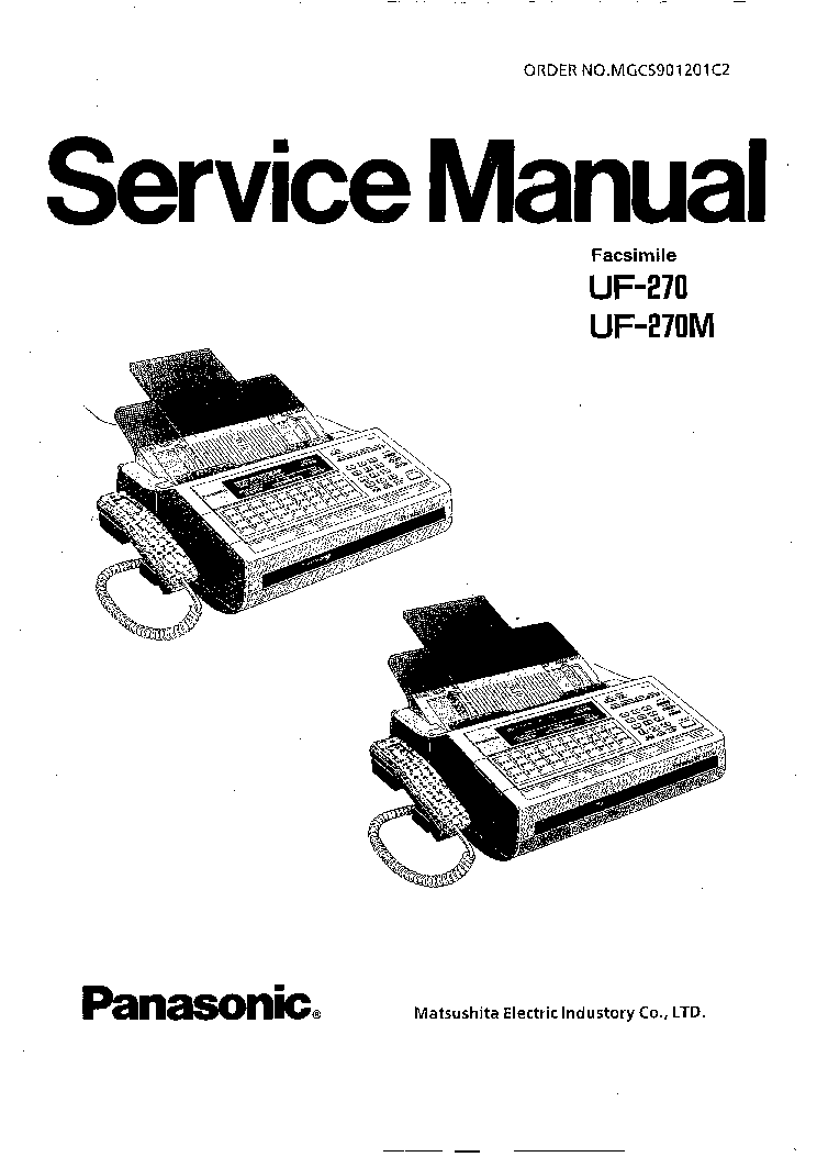 PANASONIC UF270 M SM Service Manual download, schematics