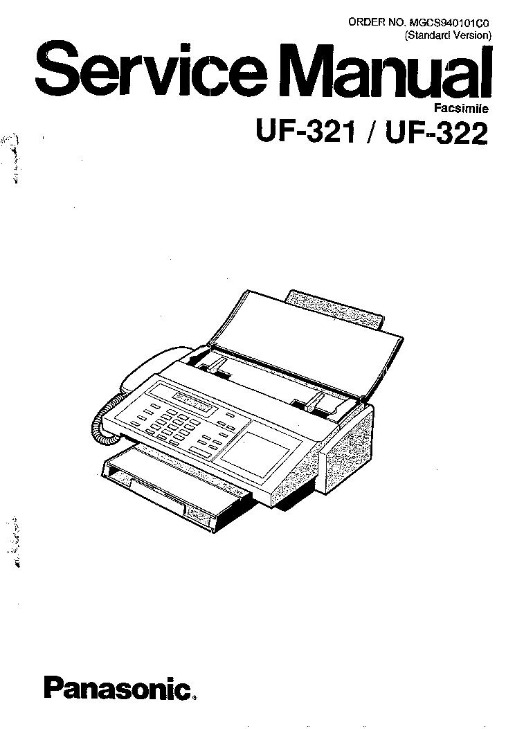 PANASONIC UF321 UF322 SM Service Manual download