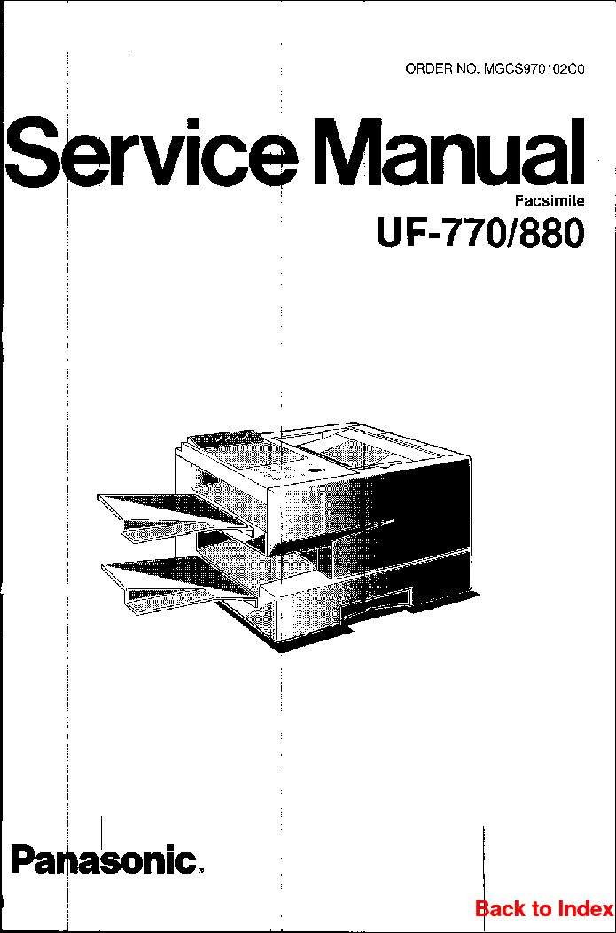 PANASONIC KX-TCD440HG Service Manual download, schematics