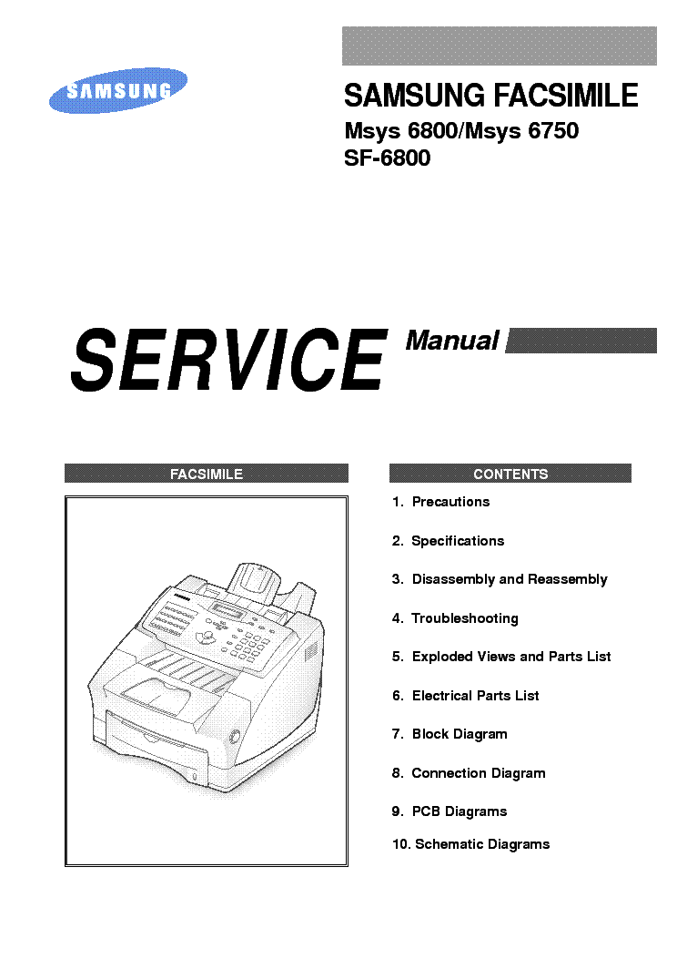 SAMSUNG BN44-00289B Service Manual free download