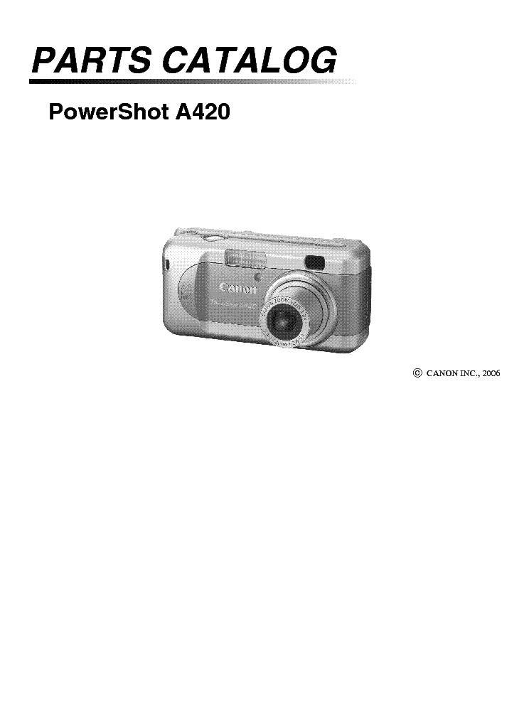 CANON E60 SCHEMATICS Service Manual download, schematics