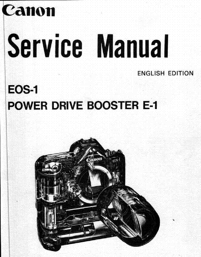 CANON EOS-1 E1 POWER DRIVE BOOSTER SERVICE Service Manual