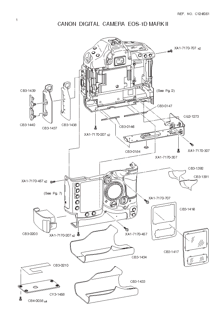 CANON EOS-1D MARK II PARTS Service Manual download