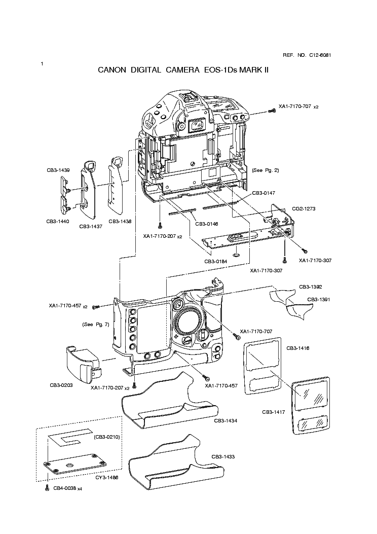 CANON EOS-1DS MARK II PARTS Service Manual download
