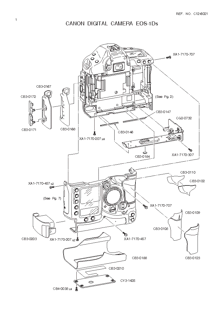 CANON EOS-1DS PARTS Service Manual download, schematics