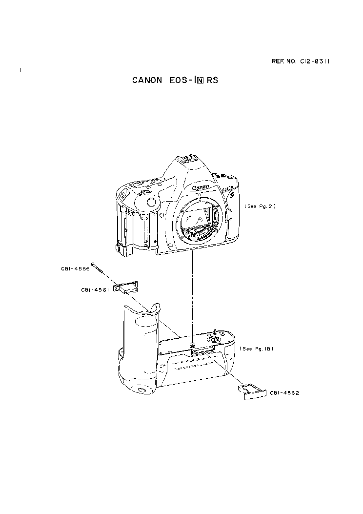CANON EOS-1N RS PARTS Service Manual download, schematics
