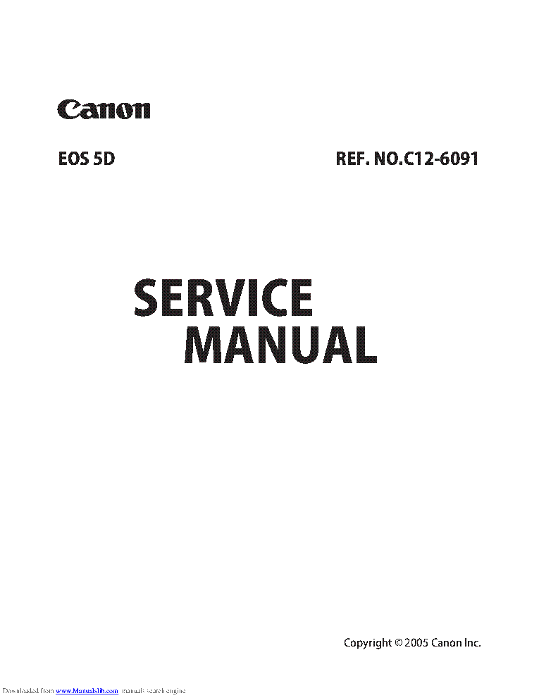 CANON EOS-5D SM Service Manual download, schematics