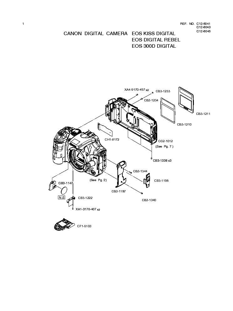 CANON EOS 300D SERVICE MANUAL Service Manual download