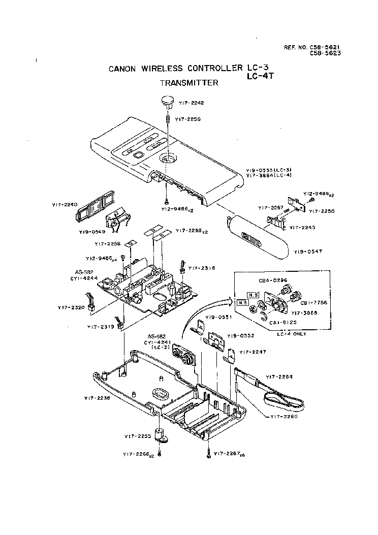 CANON LC-3 LC-4 WIRELESS CONTROLLER PARTS Service Manual