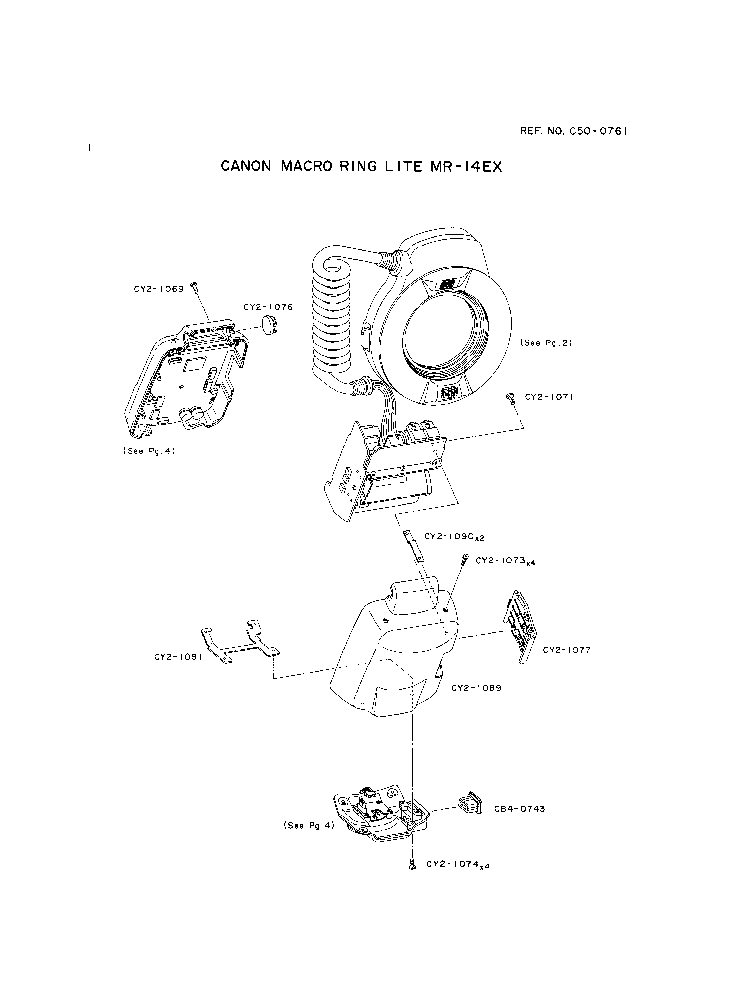 CANON MR-14EX MACRO RING LITE PARTS Service Manual