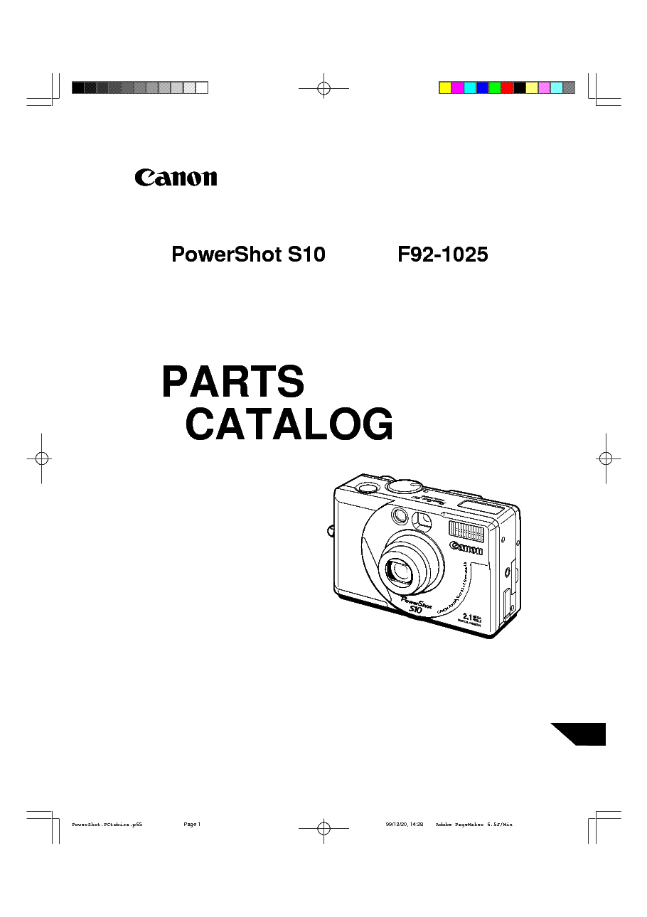 CANON POWERSHOT S10 PARTS Service Manual download