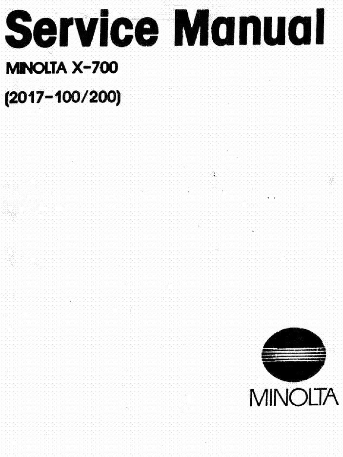 KONICA MINOLTA X-700 Service Manual download, schematics