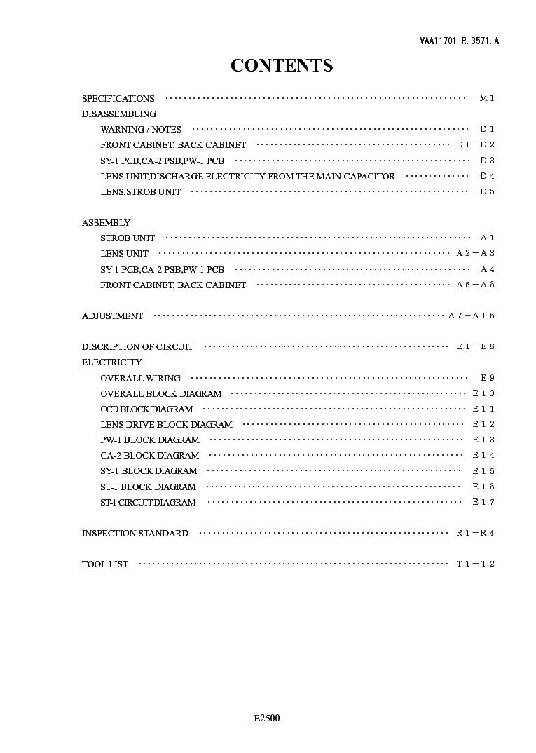 NIKON COOLPIX 2500 REPAIR MANUAL Service Manual download. schematics. eeprom. repair info for electronics experts