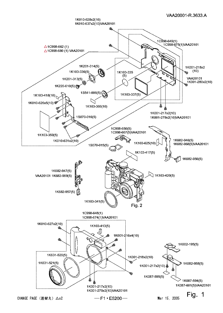 NIKON COOLPIX 5200 PARTS Service Manual download