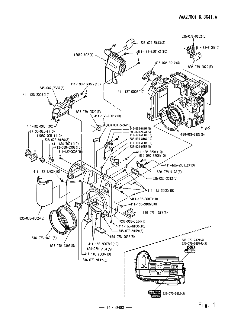 NIKON COOLPIX 8400 PARTS Service Manual download