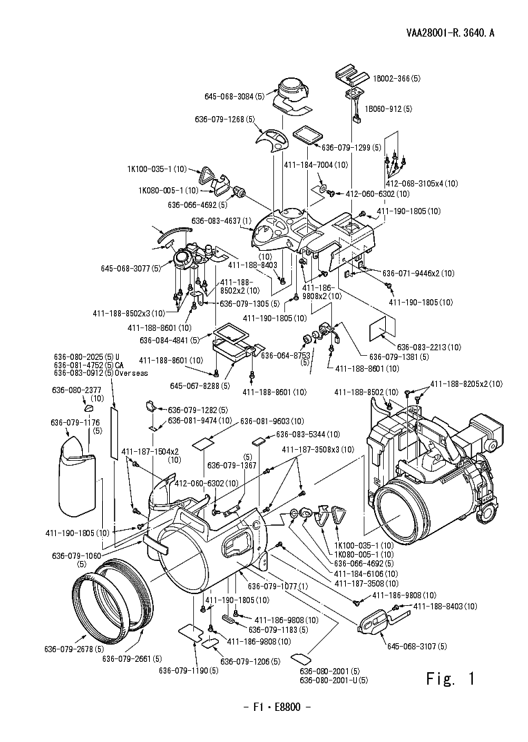 NIKON COOLPIX 8800 PARTS LIST Service Manual download